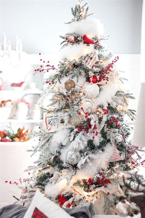 white flocked christmas tree decorating ideas 30 dreamy flocked christmas tree decoration ideas