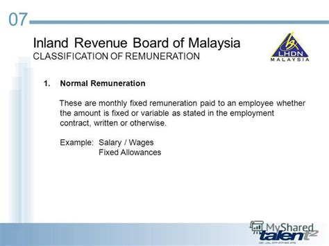 inland revenue board of malaysia презентация на тему quot malaysian payroll statutory overview