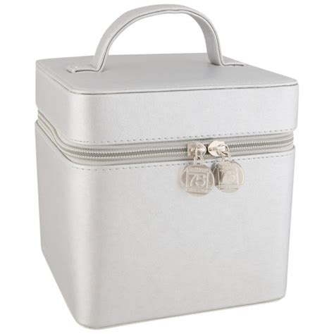 Vanity Cases by Gatineau Silver Cubic Vanity Cases Free Gift Health