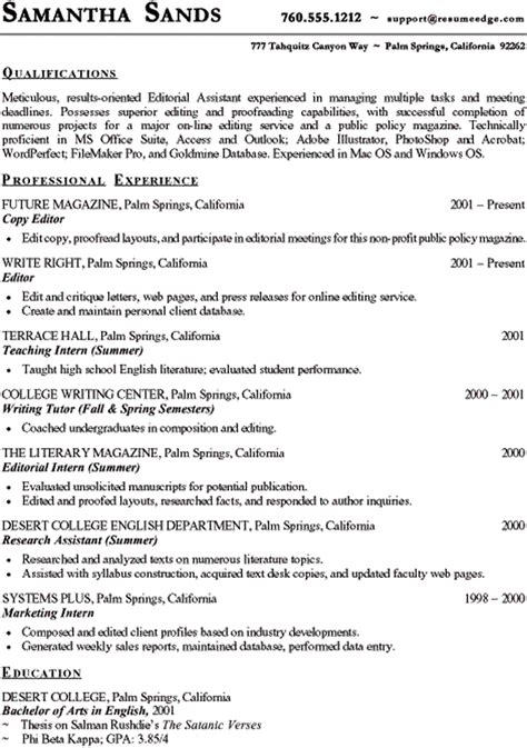 Sle Resume Of Sub Editor sle copy of resume 28 images sle copy editor resume 28