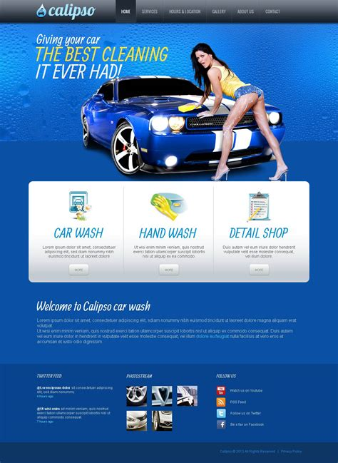 car wash moto cms html template 44714