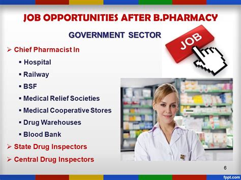 Opportunities In Government Sector After Mba by Pharmacy Profession Seth G L Bihani S D College Of
