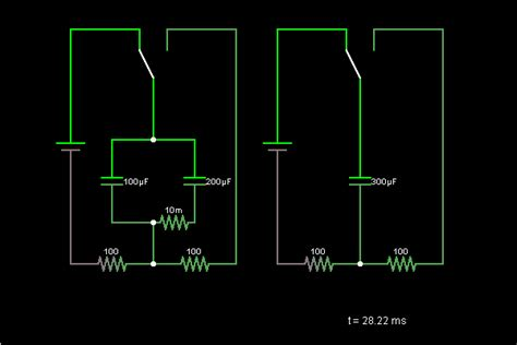 parallel resistor simulator capacitors in parallel circuit simulator