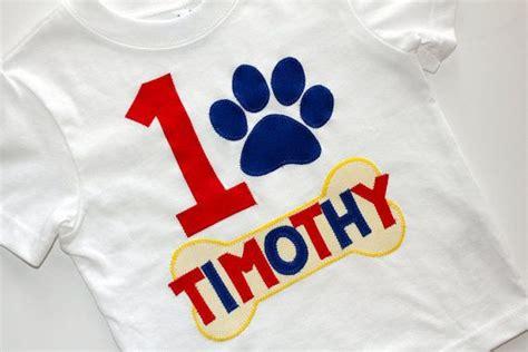 Paw Patrol Birthday Shirt Boys First Birthday Second Birthday Applique Custom Paw Patrol Birthday Shirt Template