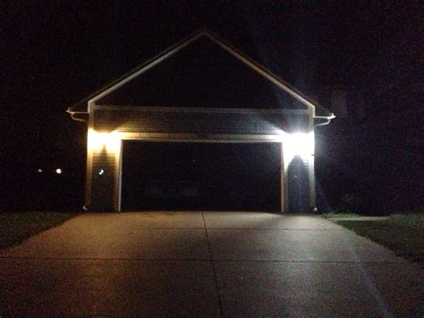 led outdoor house lights garage exterior lighting my led house