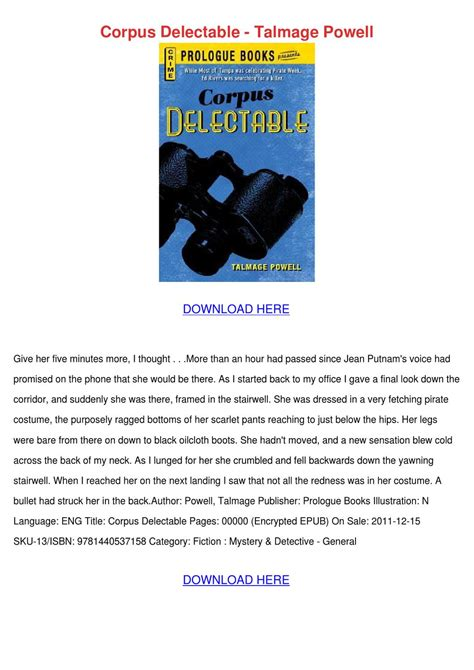 corpus delectable corpus delectable talmage powell by israelcrayton issuu