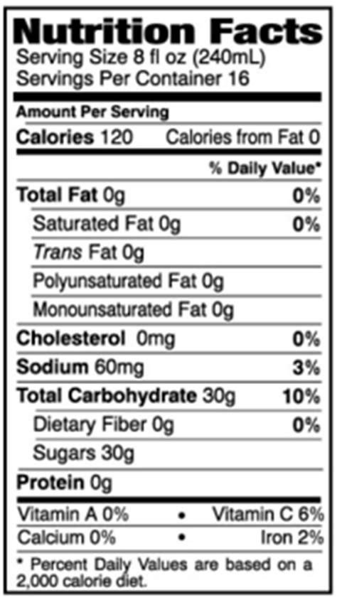 apple nutrition facts honey crisp apple cider litehouse foods