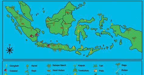 peta persebaran pertanian indonesia