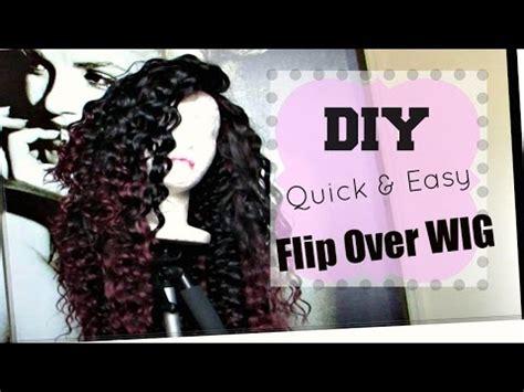 no part flip over method wig tutorial aliexpress diy no part flip over wig fast easy hot glue gun