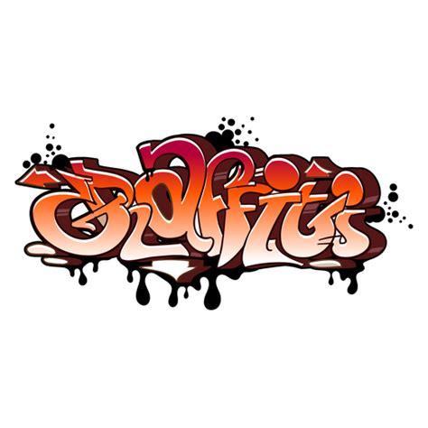 orange graffiti wildstyle sticker mania