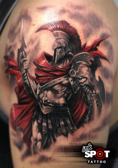war tattoo ares god of war hoplite tats
