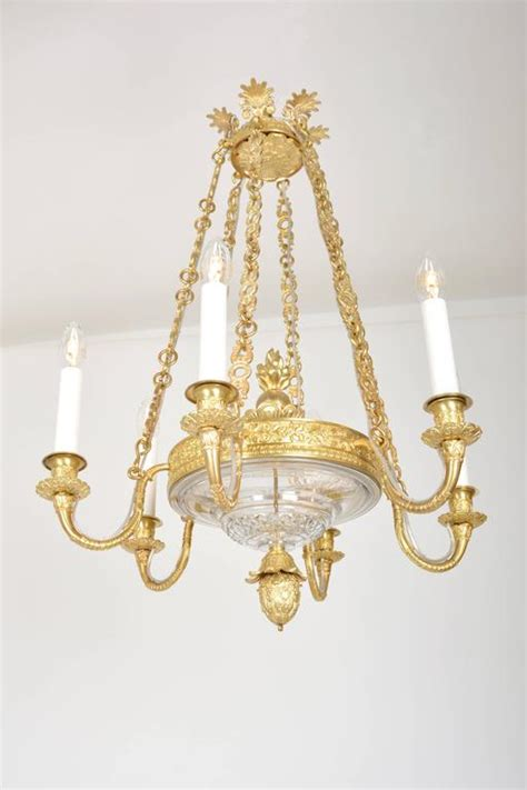 Chandelier Frame Parts Empire Chandelier With Cut Glass And Gilded Cast Brass