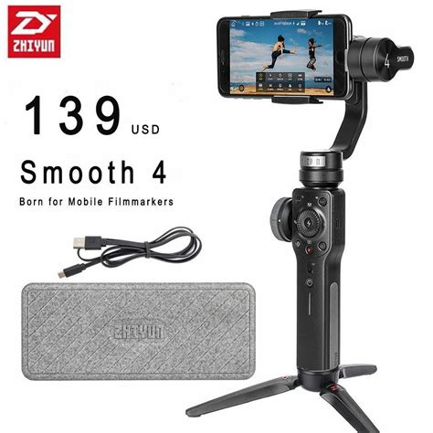 zhiyun smooth 4 3 axis handheld gimbal for iphone xs max xr x 8plus 8 7p samsung ebay