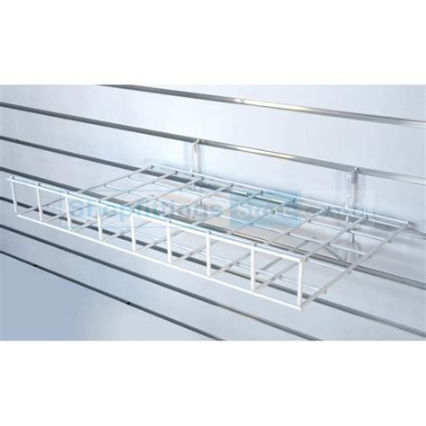 grid mesh slatwall wire shelf