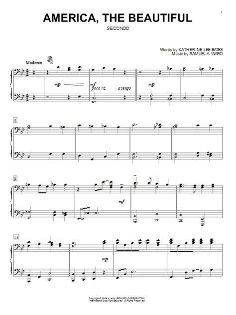 printable lyrics america the beautiful america the beautiful sheet music by katherine lee bates