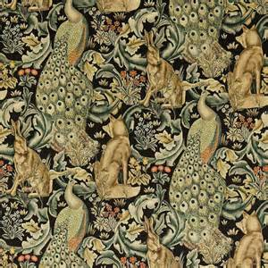 Victorian Style Upholstery Fabric Forest Fabric Charcoal 222535 William Morris Amp Co