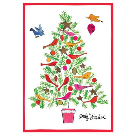 andy warhol christmas tree cards