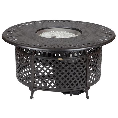 Fire Pit Accessories - shop fire sense 48 in w 40 000 btu bronze portable aluminum propane gas fire pit at lowes com