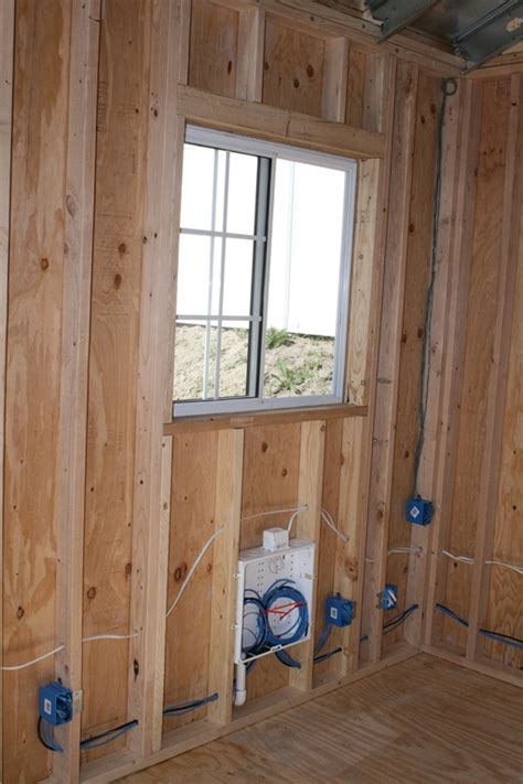 Interior Shed Walls by The Backyard Office Part Ii Michael Kizer