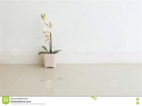 pink flower floor l artificial flower in pink pot on white cement wall
