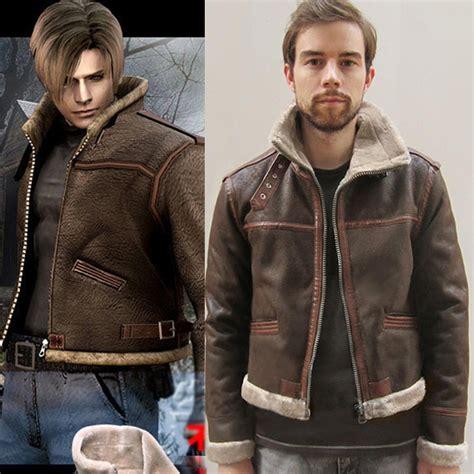 aliexpress buy resident evil 4 kennedy jacket leather winter outerwear coat