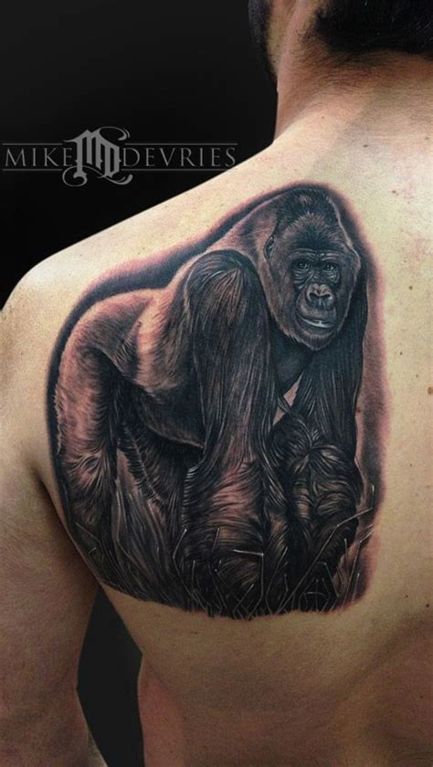 mike diamond tattoo artist mike devries silverback gorilla tattoos by mike
