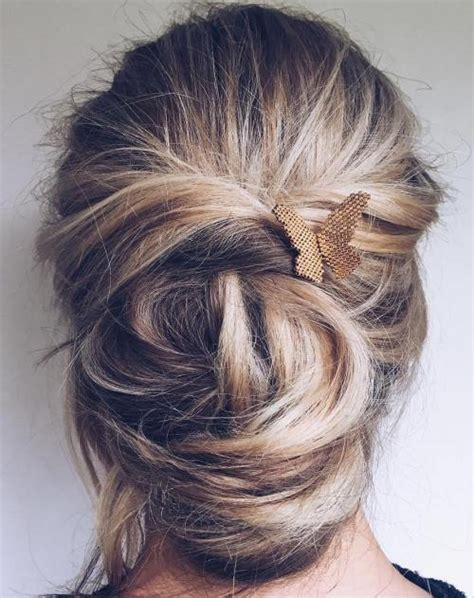messy updo for long hair that take 5 minutes 40 updos for long hair easy and cute updos for 2018