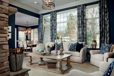 transitional living room ideas staggering navy curtains decorating ideas for living room