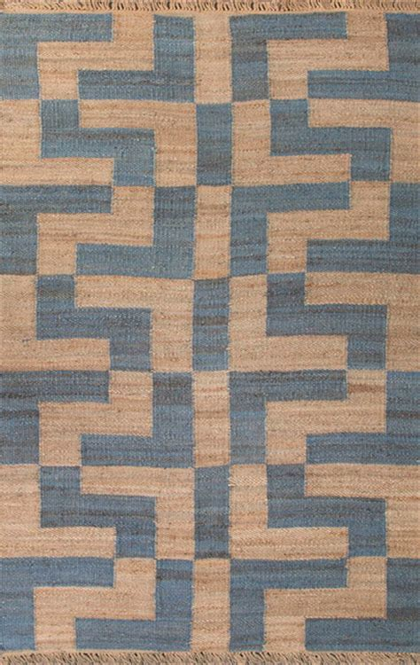 eclectic rugs naturals textured hemp taupe blue area rug 5 x 8 eclectic rugs