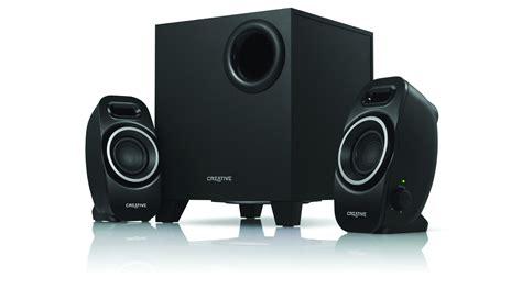 Speaker Komputer Bass creative a250 2 1 pc desktop speaker system with sub woofer black solid bass new ebay