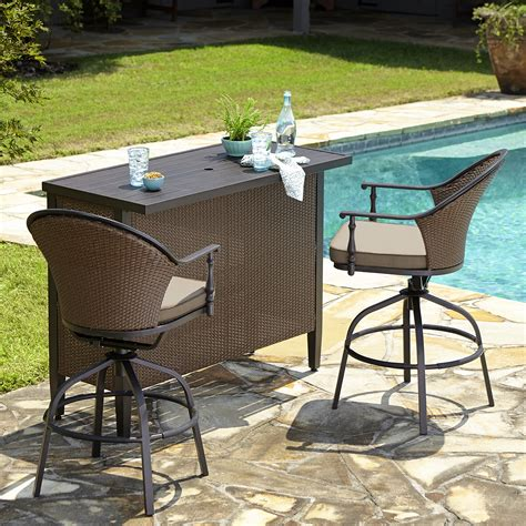 bar top patio furniture somerville 3 piece bar set