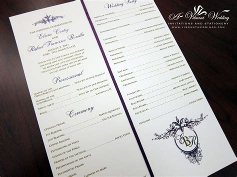 photo wedding programs ceremony programs a vibrant wedding