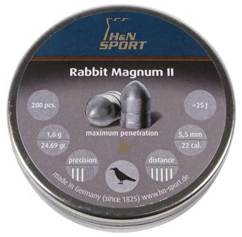 Rabbit Magnum Cal 22 h n rabbit magnum ii 22 cal 24 69 gr 200 ct airgun depot