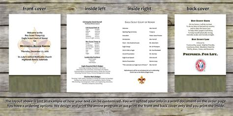 product categories eagle scout court of honor programs