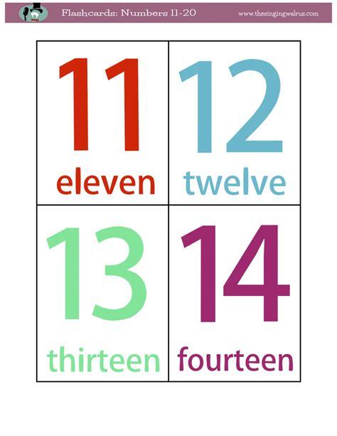 Printable Numbers 1 20 Flashcards