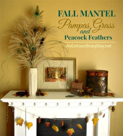 homemade fall wreath made with pas grass and pine cones an extraordinary day