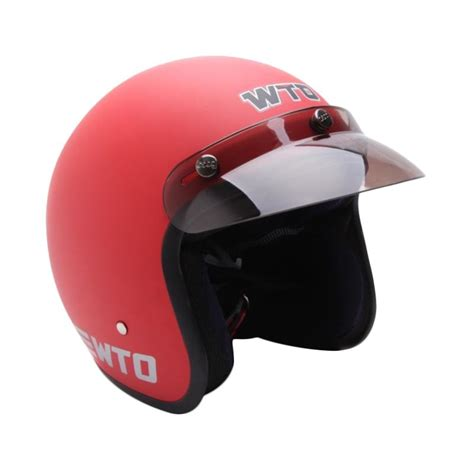 Wto Helmet Retro Bogo Walk Alone Half Helm Merah Silver jual wto helmet retro bogo pet cls1 helm half merah