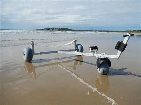 small boat beach trailer boat dolly third wheel kit beachwheels australia