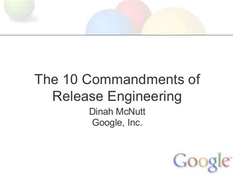 Release Engineering by The 10 Commandments Of Release Engineering