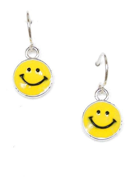 Smile Earrings yellow smiley earrings