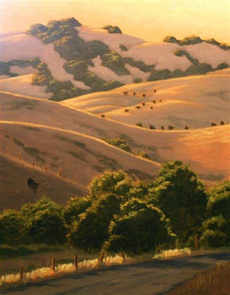 Northern California Landscape Painting California Hills Sonoma Marin Landscape