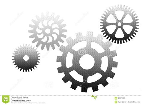 silver dream factory standing sets set of silver gears stock illustration image 62472867