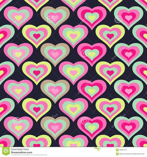 Decorative Hearts by Seamless Background With Decorative Hearts Stock