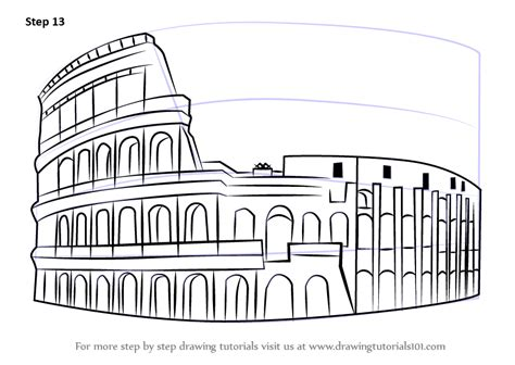 Sketches Of 7 Wonders In World by Learn How To Draw The Colosseum Wonders Of The World