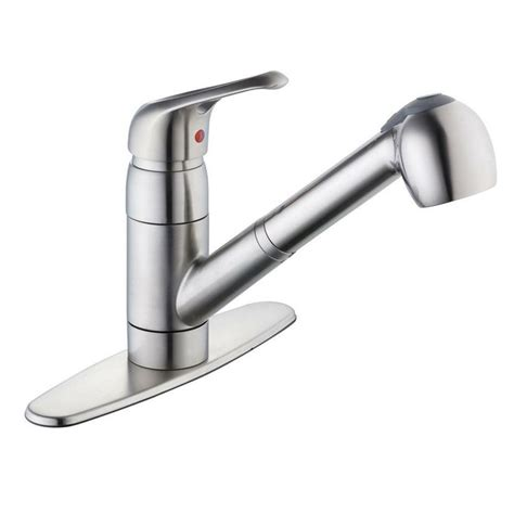 glacier bay pull out kitchen faucet glacier bay kitchen 825 series single handle pull out sprayer kitchen