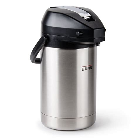 Bunn 32125.0100 2.5 Liter Stainless Steel Lined Lever Action Airpot