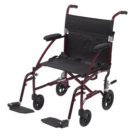 Transport Chairs Lightweight by 19 Burgundy Fly Lite Ultra Lightweight Transport Chair In