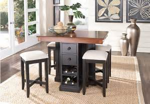 Rooms To Go Dining Room Coventry Lane Black 5 Pc Counter Height Dining Set