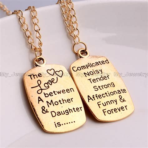 images of love of mother and daughter charm pendant necklace inspiration quotes words mother