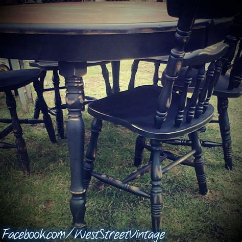 Distressed Black Dining Room Table Pin By West Vintage On My Projects Pinterest